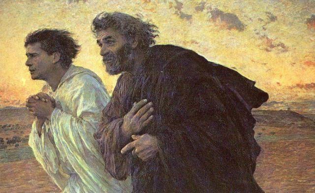 Pietro e Giovanni corrono al sepolcro